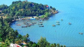 從高空俯瞰的海賊島。