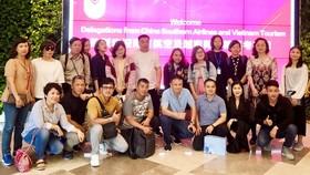 參訪團抵達中國後合照留念。