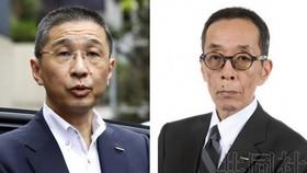 日產汽車公司社長兼首席執行官西川廣人(左)和首席運營官山內康裕。(圖源:共同社)