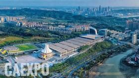 從高處俯瞰的中國南寧國際會展中心。(圖源:CAEXPO)