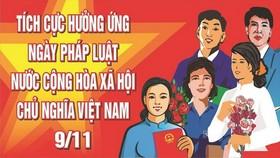 """""""九‧一一""""越南法律日宣傳海報。(圖源:互聯網)"""