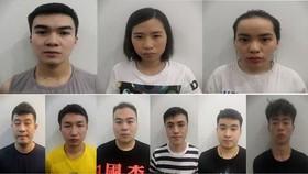 上排為3名越籍嫌犯;下排為6名中國籍嫌犯。(圖源:警方提供)
