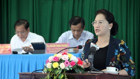Chủ tịch Quốc hội Nguyễn Thị Kim Ngân cùng Đoàn Đại biểu Quốc hội TP Cần Thơ tiếp xúc cử tri tại phường Lê Bình