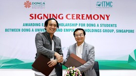 Đại học Đông Á và Tập đoàn Empire Inc Holdings (Singapore) ký kết chương trình học bổng thạc sĩ e-MBA dành cho sinh viên khối ngành Kinh tế Đại học Đông Á tham gia chương trình thực tập tại Singapore