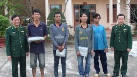 4 thuyền viên được Bộ đội Biên phòng TP Đà Nẵng giải cứu