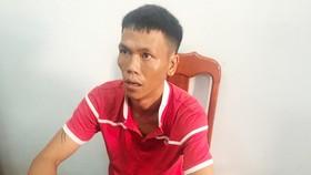 Đối tượng Nguyễn Quí tại cơ quan công an