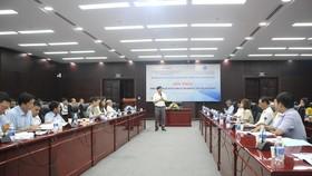 Ông Nguyễn Văn Trúc - Giám đốc Trung tâm đào tạo và hỗ trợ phát triển thị trường công nghệ chia sẻ trong hội thảo