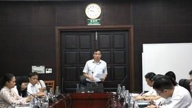 Sáng 29-8 Ông Lê Trung Chinh - Phó Chủ tịch UBND TP Đà Nẵng làm việc với với Sở GD-ĐT về công tác chuẩn bị năm học mới