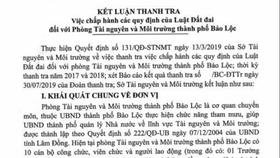 UBND TP Bảo Lộc giao hơn 100 lô đất không đúng quy định