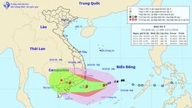 Bão số 9 lệch hướng, tâm bão dự báo hướng vào TPHCM, Vũng Tàu