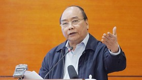 Thủ tướng phát biểu kết luận hội nghị.Ảnh: VGP
