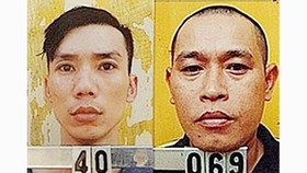 Hai đối tượng bị truy nã Nguyễn Viết Huy (40) và Nguyễn Văn Nưng (069). Ảnh: CQĐT