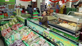 Goods on display at a Hapro supermarket in Hanoi. (Photo: VNA/VNS)