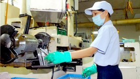 Auto equipment manufacturing at Japanese MTEX Company in Tan Thuan export processing zone, HCMC (Photo: SGGP)