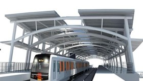 An artist's impression of Ben Thanh-Suoi Tien metro line
