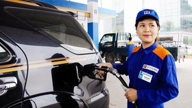 The retail prices of RON 92 petrol and E5 bio-fuel remained unchanged at VND18,580 (81 US cents) and VND18,243 per litre, respectively, at 3pm on Tuesday after continuous increases in recent months. (Photo: vietq.vn)