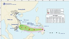 The national weather bureau forecasts that Typhoon Sanba will weaken into a tropical low pressure system on February 16
