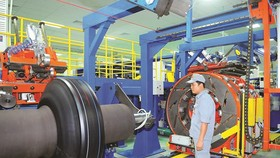 Auto tire production at Southern Rubber Industry Joint Stock Company or Casumina (Photo: SGGP)