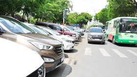 A chargeable parking spot in Le Lai street, District 1, HCMC (Photo: SGGP)