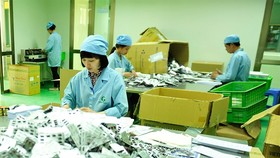Packaging of tablets at the Sao Kim Pharmaceutical Company Limited's factory in Hanoi. (Photo: VNA/VNS)