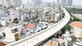 Ben Thanh-Suoi Tien metro line in Binh Thanh district, HCMC (Photo: SGGP)