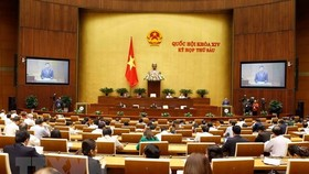 The National Assembly passed a resolution on the socio-economic plan for 2019 with 447 out of 450 votes in the morning of November 8.(Photo: VNA)