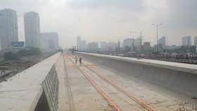 The construction site of Ben Thanh-Suoi Tien metro line