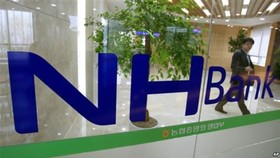 NongHyup Bank's Hanoi branch was inaugurated in 2016. (Photo: thuonggiaonline.vn)