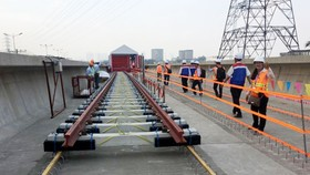 The construction site of Ben Thanh-Suoi Tien metro line (Photo: SGGP)