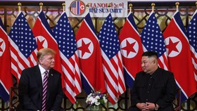 US President Donald Trump (L) and DPRK leader Kim Jong-un (Source: VNA)