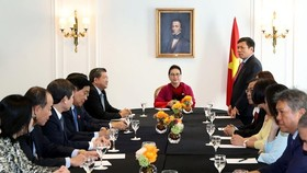 At the meeting (Source: VNA)   Paris (VNA) – National Assembly (NA) Chairwoman Nguyen Thi Kim Ngan lauded the Union of Vietnamese Associations in Europe for its activities towards the homeland during a meeting with its Executive Board in France on March 3