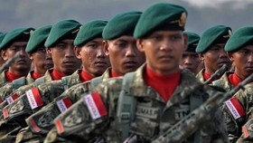 Indonesian soldiers. (Source: tempo.co)