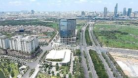 A corner of Thu Thiem new urban area in HCMC's District 2 (Photo: SGGP)