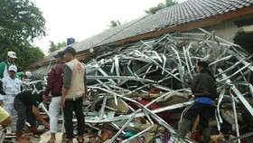 Tsunami caused severe damage in Banten, Indonesia, in December 2018 (Photo: VNA)