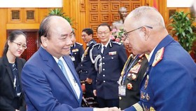 Prime Minister Nguyen Xuan Phuc and heads of delegations to ASEANAPOL 39 (Photo: VNA)