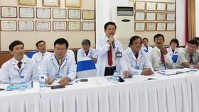 Bác sĩ Nguyễn Đức Minh, Giám đốc BV Răng Hàm Mặt TPHCM phát biểu tại buổi làm việc