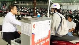 Bãi giữ xe thông minh ở số 115-117 Hồ Tùng Mậu (quận 1, TPHCM)