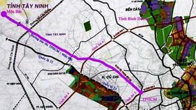 Sơ đồ hướng tuyến cao tốc TP HCM - Mộc Bài