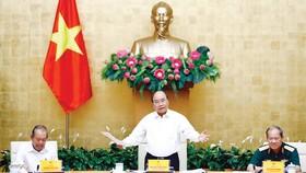 Thủ tướng Nguyễn Xuân Phúc phát biểu tại hội nghị  Ảnh: TTXVN