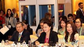 Chủ tịch QH Nguyễn Thị Kim Ngân tại phiên họp. Ảnh: TTXVN