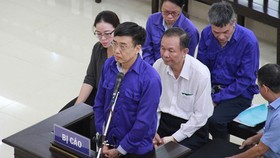 Bị cáo Lê Bạch Hồng tại phiên tòa