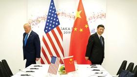 Tổng thống Mỹ và Chủ tịch Trung Quốc trong một cuộc đàm phán  bên lề Hội nghị thượng đỉnh G20 ở Nhật Bản tháng 6-2019
