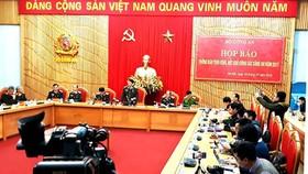 Thứ trưởng Bùi Văn Nam chủ trì  họp báo về công tác Công an năm 2017