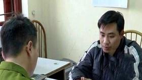 Bị can Nguyễn Trọng Trình tại cơ quan điều tra