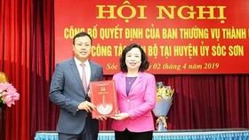 Con trai nguyên Bí thư Thành ủy Hà Nội làm Phó Bí thư Huyện ủy Sóc Sơn