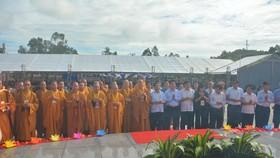 Các đại biểu về tham dự đại lễ cầu siêu