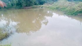 Khu vực hồ nước xảy ra vụ tai nạn đuối nước