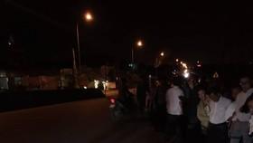 Hiện trường xảy ra vụ tai nạn trong tối mùng 2 tết ở địa bàn phường Kỳ Phương, thị xã Kỳ Anh, tỉnh Hà Tĩnh