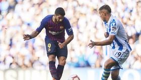 Suarez tiếp tục tỏa sáng giúp Barca. Ảnh: Getty Images.