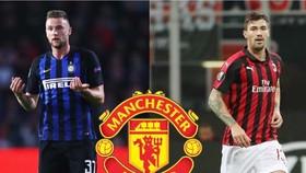 Milan Skriniar (trái) và Alessio Romagnoli. Ảnh: footify.fr